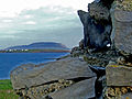 View of Knocknarea from the interior of Knocklane Promontory Fort.JPG