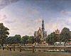 view of the westerkerk amsterdam 1660 jan van der heyden