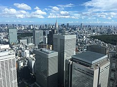 View to the southeast from the the Tokyo Metropolitan Government Building No.1.jpg