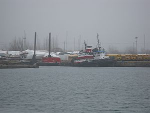 Viewing two tugs moored at the mouth of the Keating Channel -a.jpg