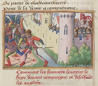 Siege of Compiègne - Siege of Compiègne by Martial d'Auvergne