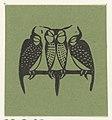 Vignet met drie slapende uilen, RP-P-OB-16.626.jpg