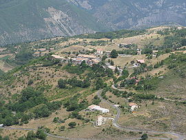 A general view of the village of valavoire, from above