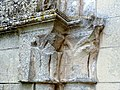 Villeneuve-sur-Verberie (60), église de Noël-Saint-Martin, croisillon nord, arcade vers le bas-côté disparu, chapiteaux à gauche.jpg