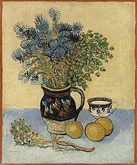 Still Life: Majolica with Wildflowers
