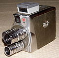 Vintage Keystone 8mm Turret Movie Camera, Model K38 Olympic, Made In USA, Circa 1951 (13292524183).jpg