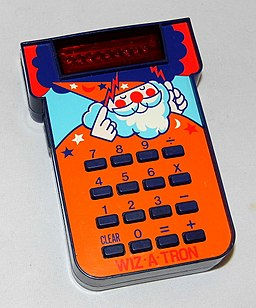 Vintage Texas Instruments Wiz-A-Tron Electronic Arithmetic Game, A Variation Of The Little Professor Electronic Game, Made In USA, Circa 1977 (22427582543)