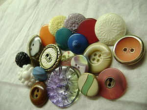 English: Vintage sewing buttons.