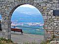 Vista des del santuari del Mont, Besalú al fons, a 7 km - panoramio.jpg