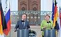Vladimir Putin and Angela Merkel in Meseberg, Germany August 2018.jpg