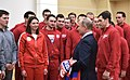 Vladimir Putin meets with Russian sportsmen – participants of the XXIII Olympic winter games 12.jpg