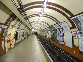 Emptiness - An empty station of the London Underground