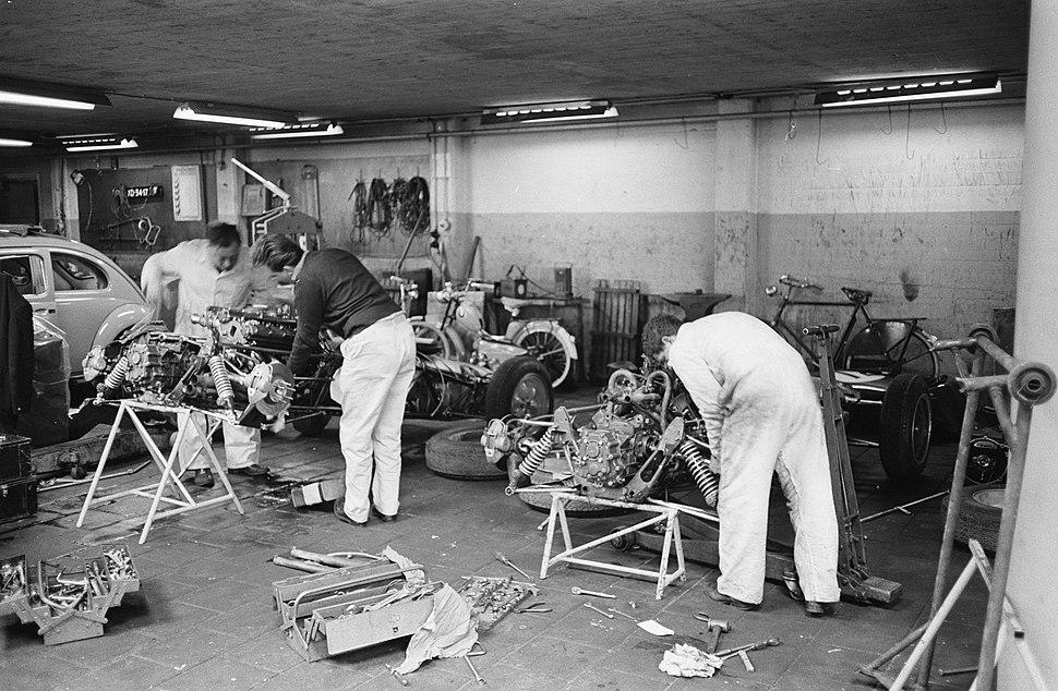 Voorbereidingen voor de Grand Prix, Zandvoort, Nederland, 1962, Bestanddeelnr 913-9271