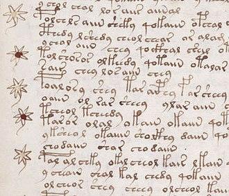 Handwriting - Image: Voynich manuscript recipe example 107r crop