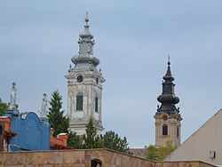 Vrbas, Serbia, church towers.jpg