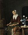 Vrouw aan de maaltijd, bekend als 'Het ontbijt van de kat' Rijksmuseum SK-C-560.jpeg