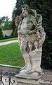 Vrtbovská zahrada, socha Jupitera.JPG