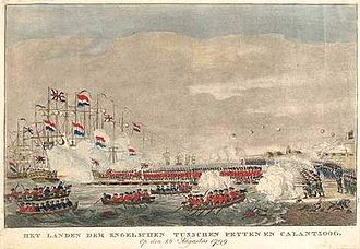 Anglo-Russian invasion of Holland - The landing of British forces at Callantsoog