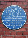 W.F.R. STANLEY Blue Plaque at Stanley Halls 12 South Norwood Hill.jpg