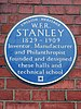 W.f.r._stanley_blue_plaque_at_stanley_halls_12_south_norwood_hill