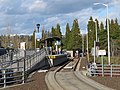 WES platform at Beaverton TC from SW Lombard Avenue, February 2018.JPG