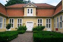 Lessinghaus in Wolfenbüttel.Hier lebte und arbeitete Lessing nach seiner Hochzeit mit Eva König. (Quelle: Wikimedia)
