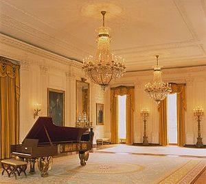 Executive Residence - The East Room after its last redecoration in 1995.