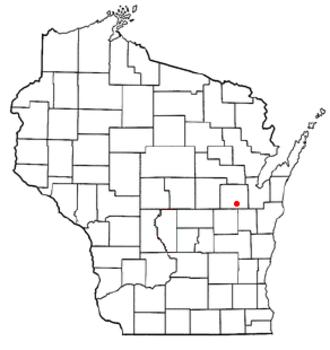 Grand Chute, Wisconsin - Image: WI Map doton Grand Chute
