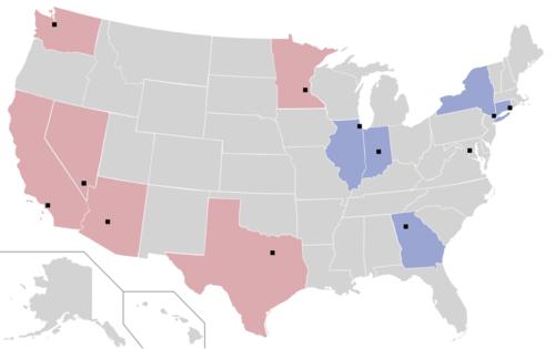 Womens National Basketball Association Wikipedia - Us map nba teams