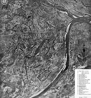 Bombing of Gorky in World War II - Image: WWII German map (Gorky)