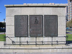 HMS Thames (1885) - Memorial in Cape Town for SATS General Botha graduates who died during World War II