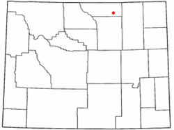 Location of Clearmont, Wyoming