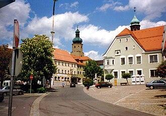 Waldmünchen - Market square in 1997
