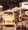 Wallace Arnold coaches, Waverley Bridge, Edinburgh, September 1992.jpg