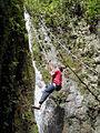 Waterfall climbing, Giri Waterfall, Giripul, Himachal Pradesh.jpg