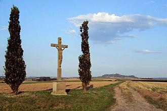 Wayside cross - Image: Wegekreuz zwischen Marburg Bauerbach und Marburg Schröck an der K35