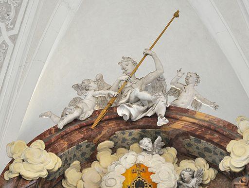 Weingarten Kreuzigungsaltar Engel oben