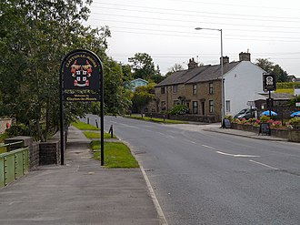 Clayton-le-Moors - Image: Welcome to Clayton le Moors (geograph 3050676)