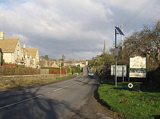 A433 road - Image: Welcome to Tetbury geograph.org.uk 320012