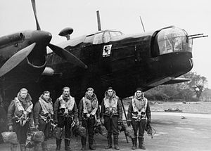 No. 214 Squadron RAF - Crew of a Wellington II of 214 Squadron at RAF Stradishall before a raid on Essen.