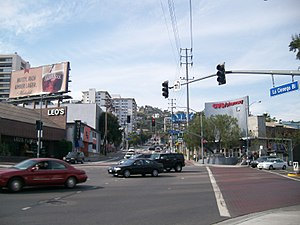 La Cienega Boulevard - Looking north on La Cienega Blvd. from Santa Monica Blvd.