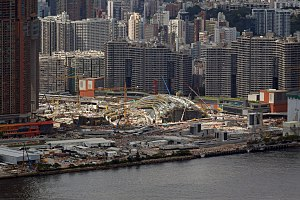 West Kowloon Station - West Kowloon Station construction site