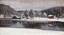 WESTERHOLM Victor Winter Landscape from Kymintehdas, 1899