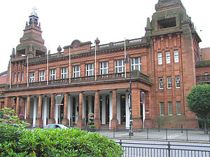 Glasgow International Match - The facade of Kelvin Hall – the meeting's venue from 1988 to 2012.