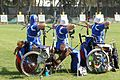 Wheelchair archery at the 2004 Summer Paralympics.JPG