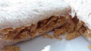 Crisp sandwich - Image: White Bread Crisp Sandwich