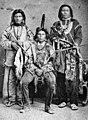White Fox (center) with Red Fox and White Eagle, Nebraska 1874.jpg