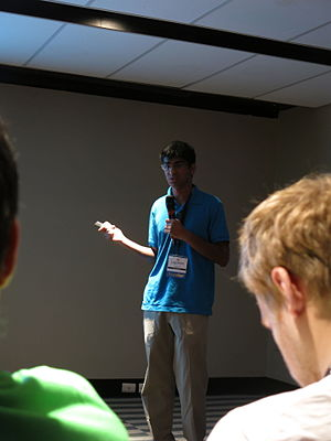Kunal presenting at Wikimania 2015