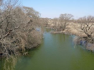 Wilge River River in Free State, South Africa, tributary of Vaal River