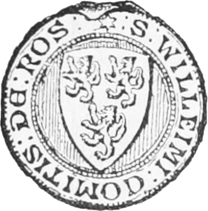 William II, Earl of Ross - William's seal